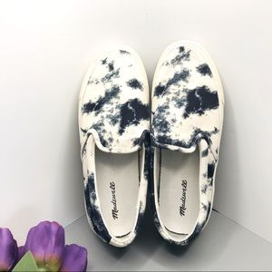 Madewell slip-on tie dyed canvass sneakers W8.5 M7